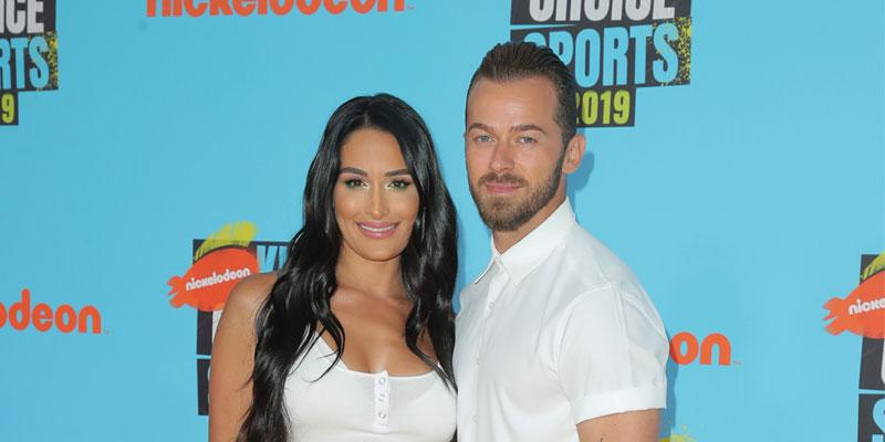 Nikki Bella And Artem Chigvintsev On Red Carpet