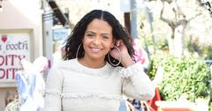 Christina Milian In Cream Sweater And Jeans