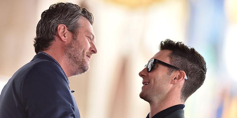 Blake shelton kisses adam levine the voice truce main