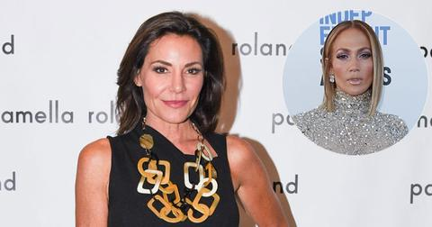Luann De Lesseps On Red Carpet Jennifer Lopez Inset