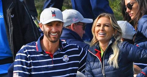 Dustin Johnson and Paulina Gretzky at the Ryder Cup