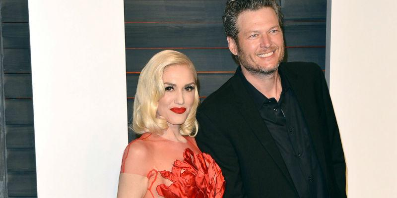 Gwen Stefani Blake Shelton Vanity Fair Thumb