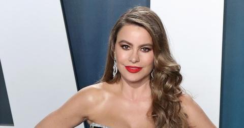 Sofia Vergara Wearing Dress On Carpet