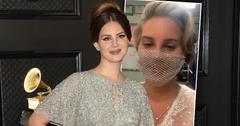Lana Del Rey at grammmys and inset with Mesh Mask