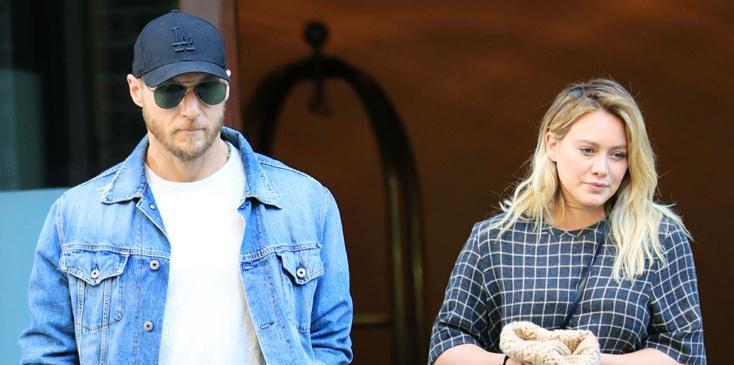 Hilary Duff and new beau Jason Walsh go out for a pizza lunch date in New York City