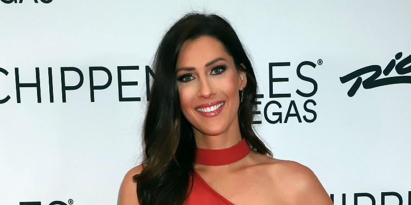 Becca Kufrin Wearing A Red Dress
