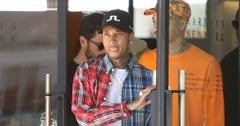 Tyga and Scott Disick end a shopping trip at Barneys New York