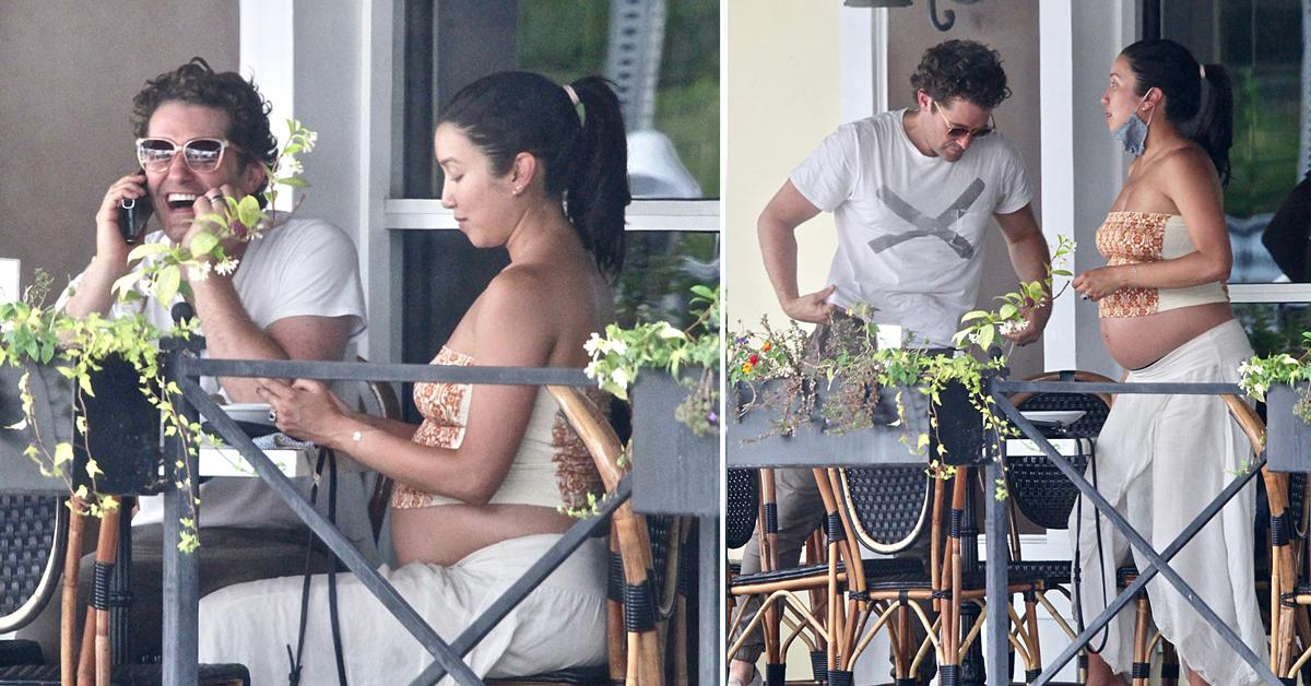matthew morrison out to lunch with pregnant wife renee