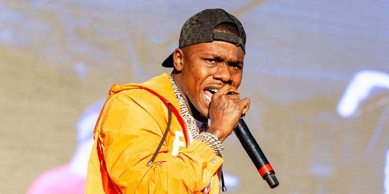 DaBaby Wearing Yellow On Stage