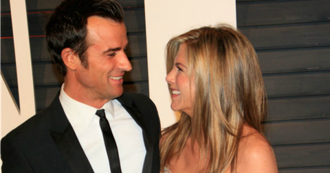 Jennifer aniston justin Theroux oscars after party pp