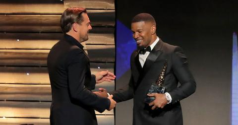 Leonardo DiCaprio Presents Jamie Foxx With Award At ABFF