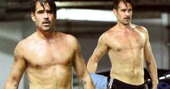 Colin farrell shirtless leaving yoga