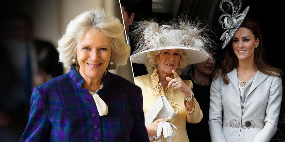 Camilla Parker-Bowles with split photo of Camilla and Kate Middleton Story Kate Simpleton