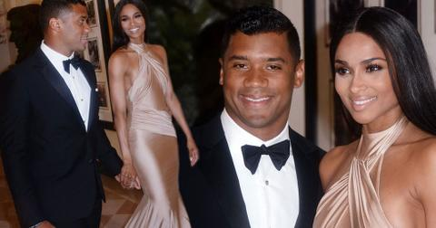 Ciara russell wilson hold hands whtie house state dinner