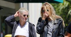 EXCLUSIVE: Braless on her birthday, Kristen Stewart celebrates her 27th with girlfriend Stella Maxwell.
