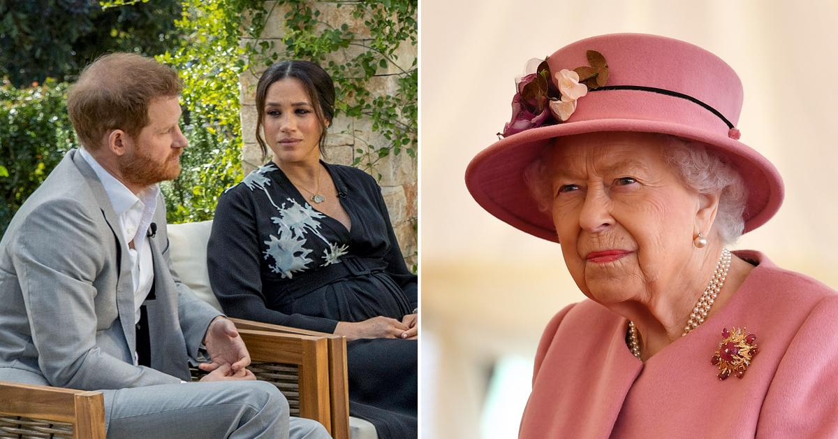 queen elizabeth responds prince harry bombshell interview concerning issues tro