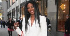 "Kenya Moore pops in White for ""Good Day New York"" **USA ONLY**"