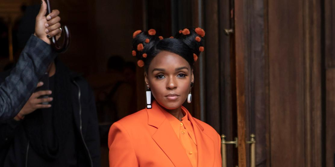 Janelle Monae attends the Stella McCartney show as part of the Paris Fashion Week Womenswear Fall/Winter 2020/2021
