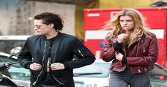 *EXCLUSIVE* **WEB MUST CALL FOR PRICING** Kristen Stewart and Stella Maxwell hot PDA at Milan Airport!