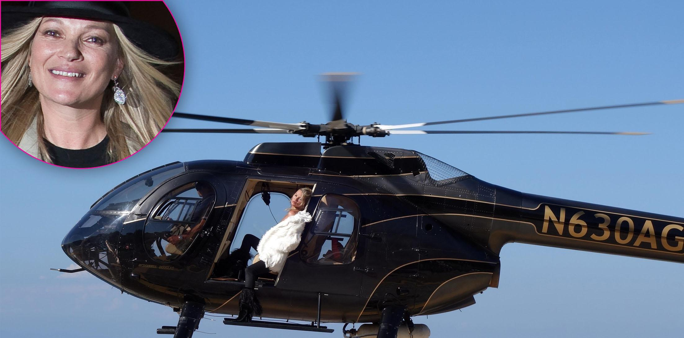 *PREMIUM EXCLUSIVE* Kate Moss does a very racy photoshoot at high altitudes!