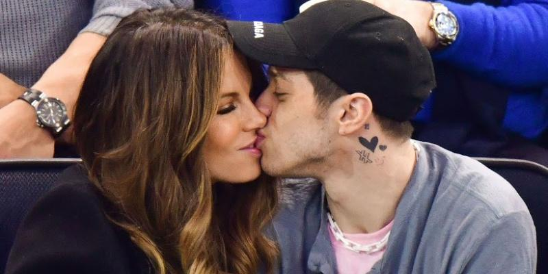 Kate Beckinsale kissing Pete Davidson