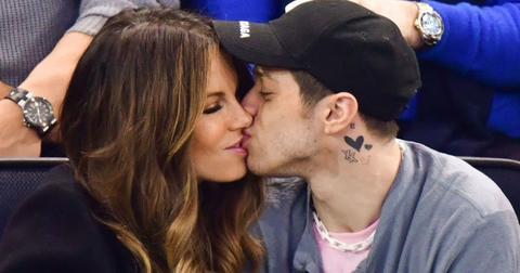Kate Beckinsale kissing Pete Davidson