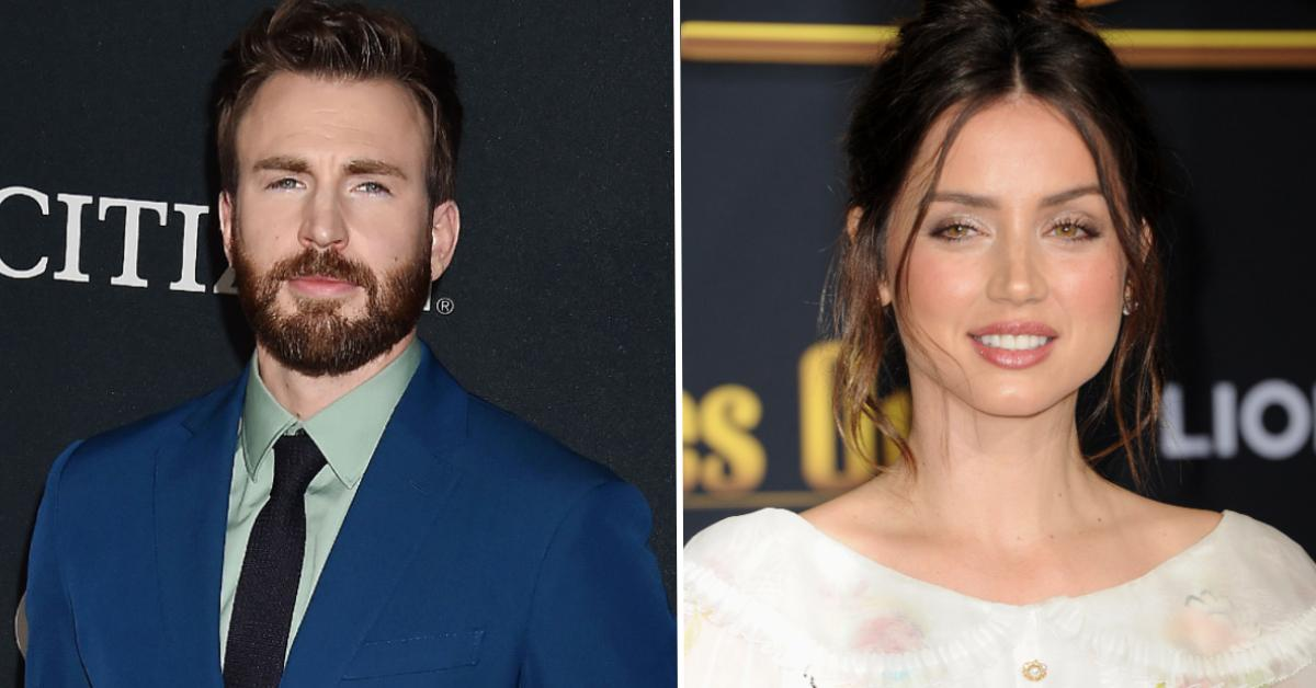 ana armas cant wait reunite chris evans pp