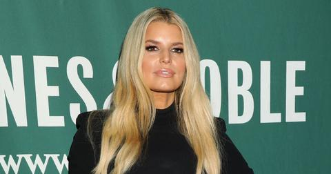 Jessica Simpson Wearing Black Turtle Neck at Her Book Signing