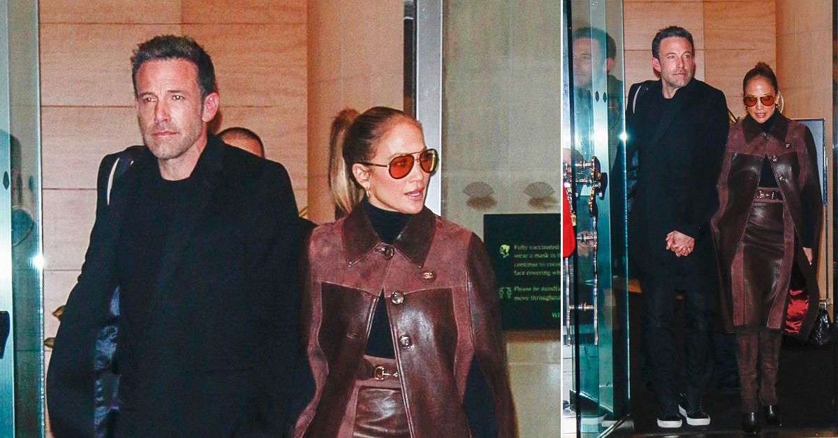 ben affleck and jennifer lopez seen holding hands while leaving the mandarin oriental hotel in nyc