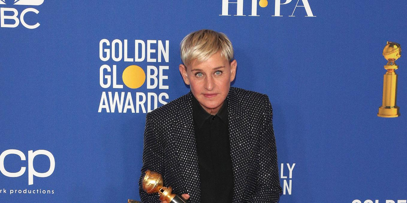 Ellen DeGeneres at the 77th Annual Golden Globe Awards