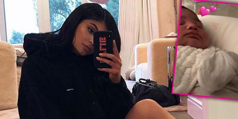 kylie jenner daughter stormi cheeks pic pp