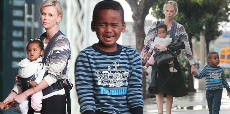Charlize Theron monster mom scandal