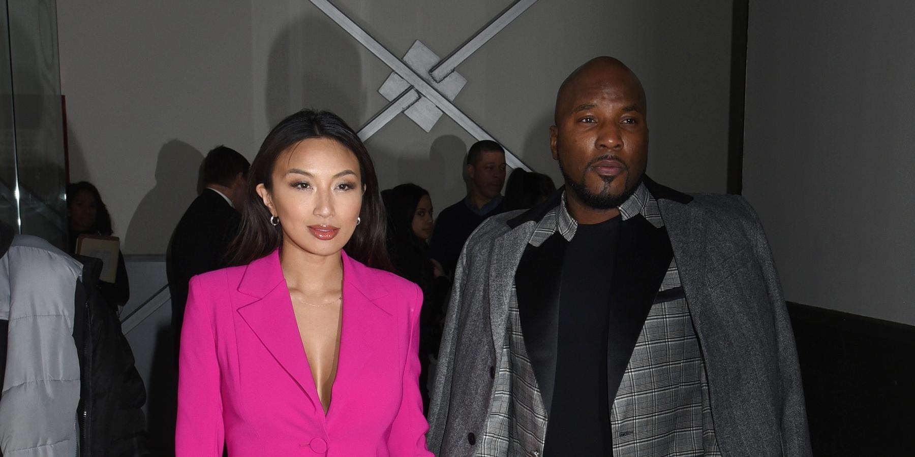 Jeannie Mai and Jeezy at the Pamella Roland Fall/Winter 2020 Runway Show in NYC