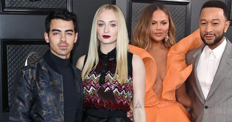 joe jonas sophie turner chrissy teigen john legend grammys red carpet