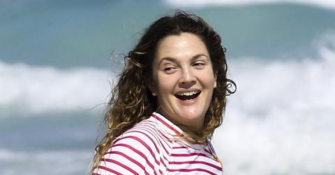 *PREMIUM EXCLUSIVE* Drew Barrymore jumps into the ocean on a Girls Trip to Cancun