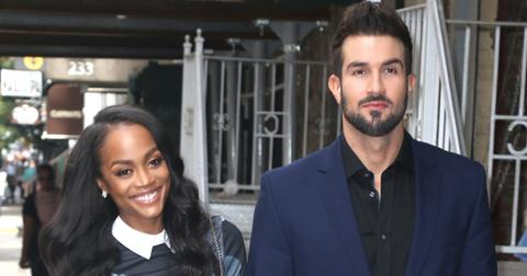 Rachel Lindsay and Bryan Abasolo visit the 'The Wendy Williams Show' in NYC