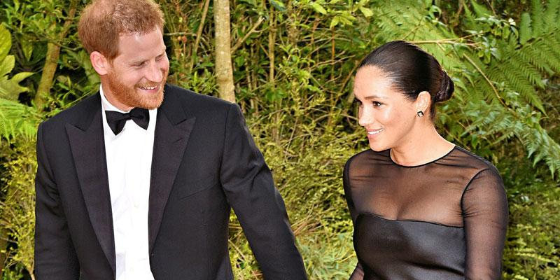 harry and meghan lion king premiere