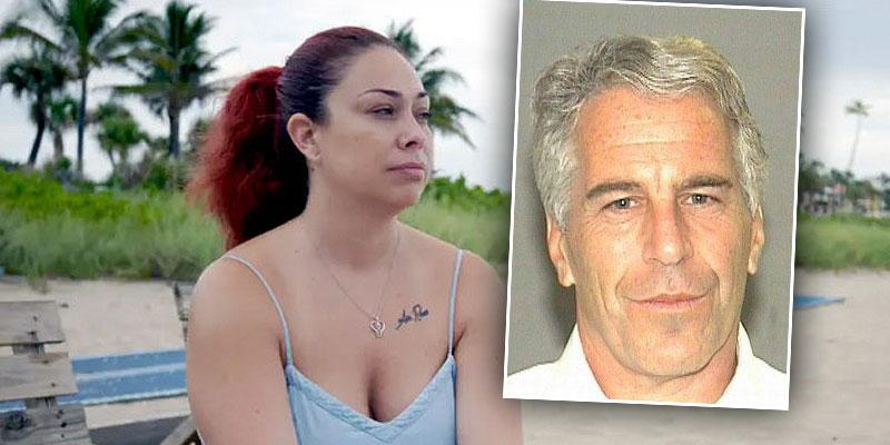 Haley Robison with Inset of Jeffrey Epstein Mugshot