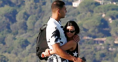 Younes Bendjima holds Kourtney Kardashian close in St. Tropez