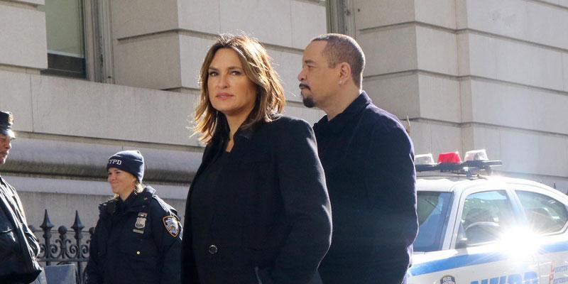 Mariska Hargitay Filming 'Law & Order: SVU' With Ice-T