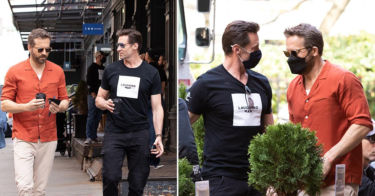 hugh jackman and ryan reynolds have lunch together in nyc