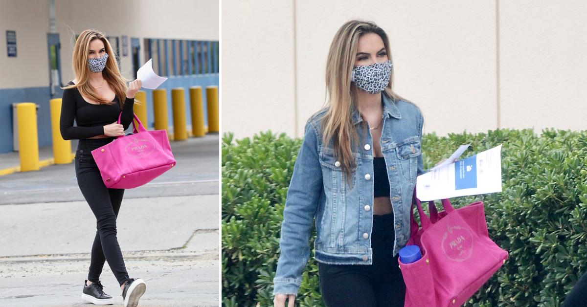 selling sunset star chrishell stause spotted at california dmv