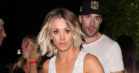 Kaley Cuoco and Sam Hunt celebrate after the 58th Grammy Awards