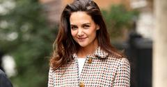 Katie Holmes Leaves Her Hotel In NYC
