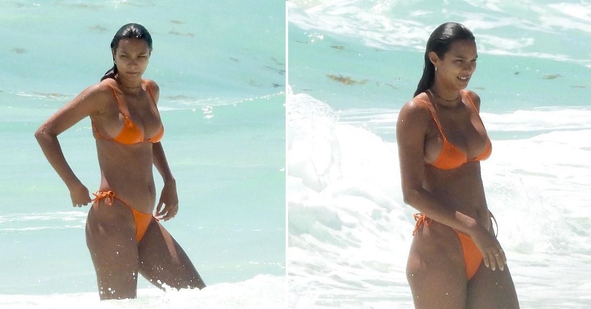 victoria secret model lais ribeiro takes a dip in ocean in mexico