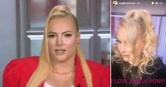 the view meghan mccain slams troll criticized hair extensions pf