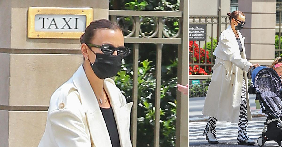 irina shayk and daughter lea cooper seen taking a stroll together in new york city ok