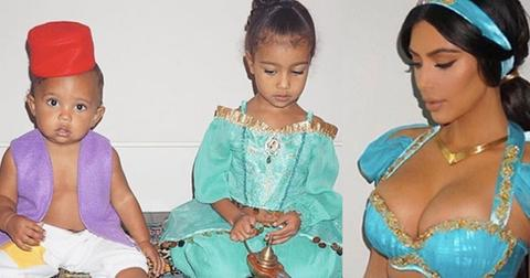 Kim kardashian princess jasmine halloween photos north west saint west 1