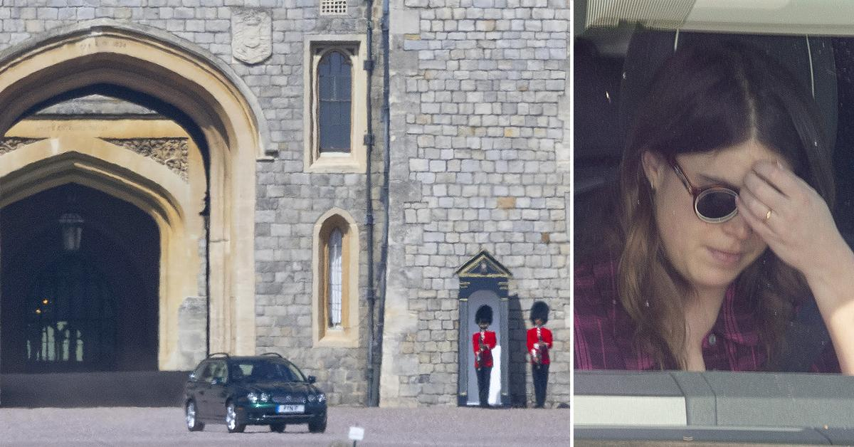 members of the royal family leaving windsor castle ok
