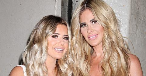 Reality TV star Kim Zolciak Biermann, daughter Brielle and husband Kroy arrive at 'AOL Build' in NYC.